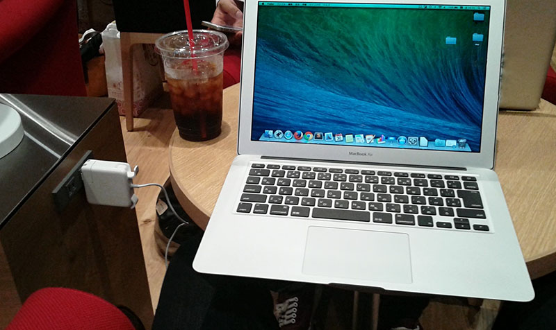 楽天カフェ macbookair