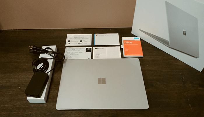Surface Laptop 開封3