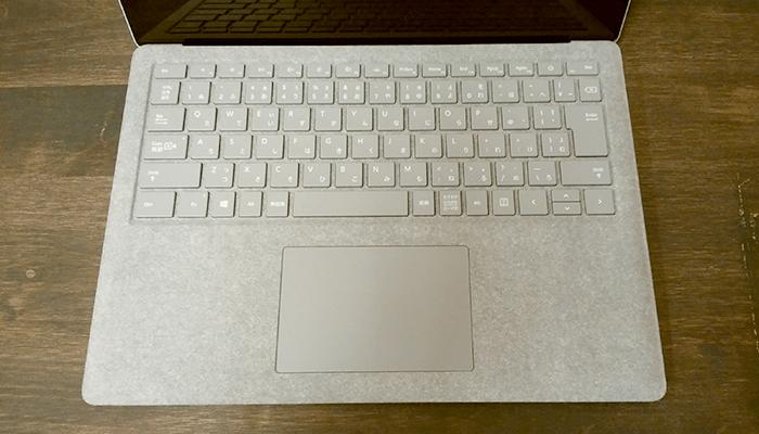 Surface Laptopのキーボード配置