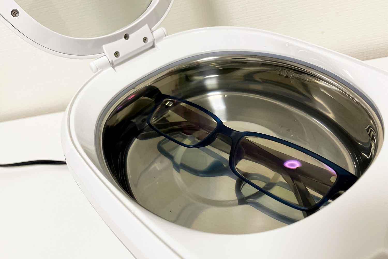 超音波洗機 メガネ 洗ってみた