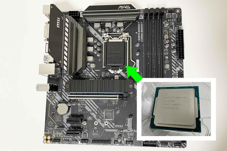 初めての自作PC 組立手順1「CPUとマザーボードにi5-10400F&B460mを準備!」