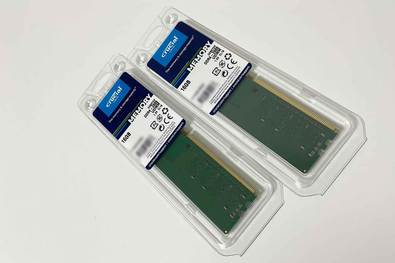 Crucial DDR4-2666 16GB 2枚