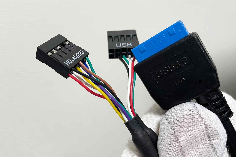 フロントパネルパーツ 配線 HD-AUDIO USB2.0 USB3.0