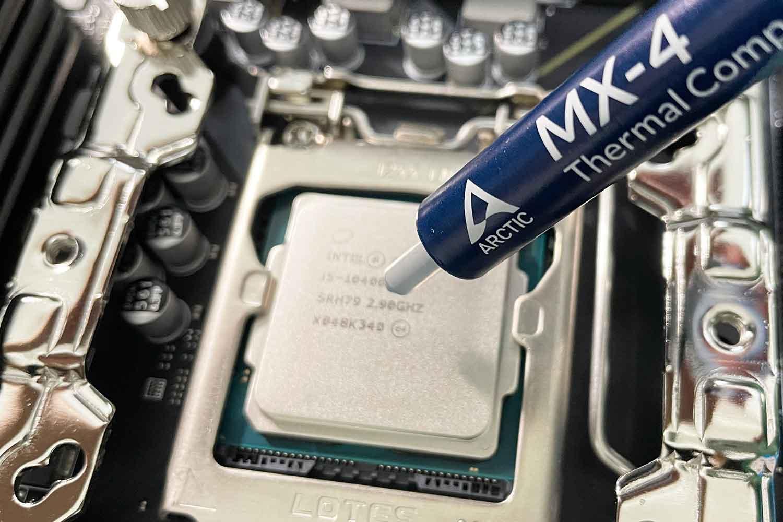 CPU i5-10400F MX-4 グリス塗り