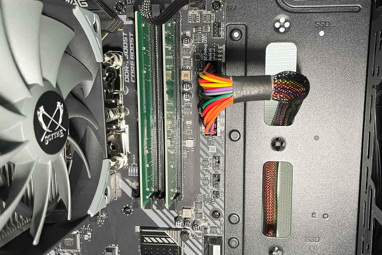 初めての自作PC 組立手順13「電源ユニットSMART 600Wのケーブル種類&配線方法」