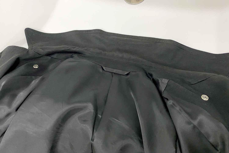 スプリングコート 襟汚れ 洗う