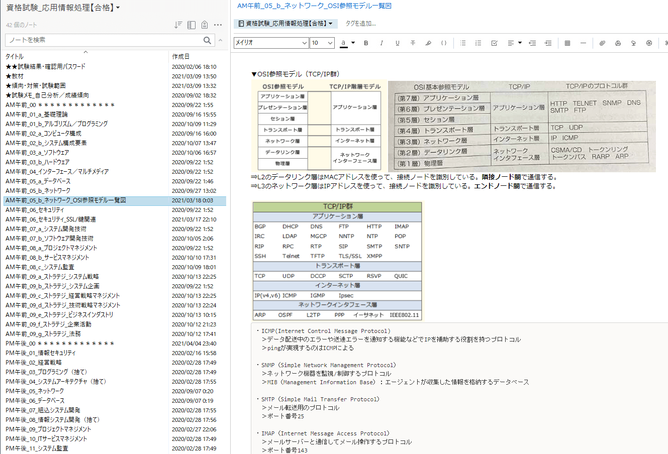 応用情報技術者試験 エバーノート ノート