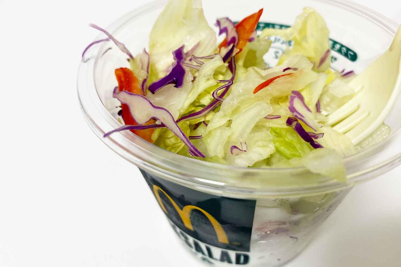 株主優待で頼める高価サイドメニュー「マックサラダ」を食べてみた!
